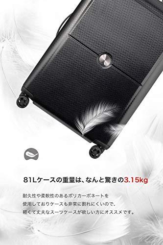 DELSEY(デルセー)スーツケース機内持ち込み超軽量lサイズキャリーケースsサイズ/mサイズ静音キャリーバッグTURENNE10年間保証ブラック/90L