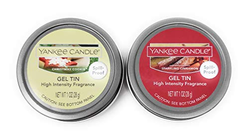Yankee Candle Christmas Cookie and Sparkling Cinnamon High Intensity Gel Tins - Set of 2