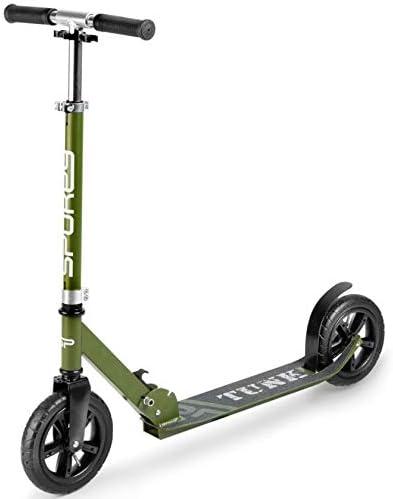 Spokey Patinete con ruedas hinchables, modelo militar ...