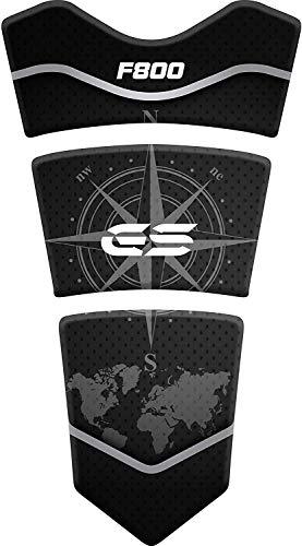 Tankpad Motorrad Draht Muster Tankschutz Polymer für BM.W BM.W F 800 GS ADV Adventure F800 Schwarz
