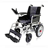 DLY Ancianos Discapacitados Silla de Ruedas Eléctrica Silla de Ruedas Multifuncional Plegable Estructura de Acero Portátil Discapacitados Ancianos Silla de Ruedas Eléctrica