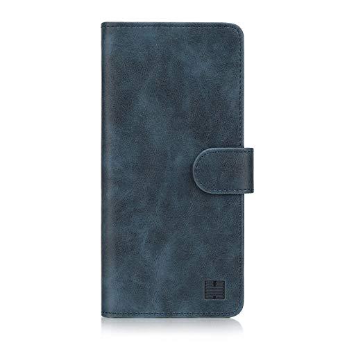 32nd Essential Series - PU Leder Mappen Hülle Flip Case Cover für Huawei P30 Lite, Ledertasche hüllen mit Magnetverschluss & Kartensteckplatz - Navy Blau
