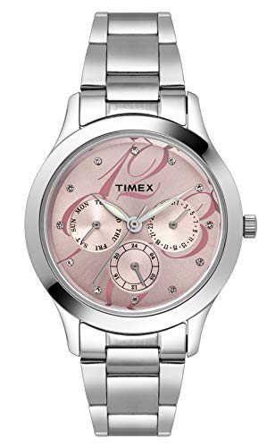 Timex E-Class Analog Pink Dial Women's Watch - TI000Q80100