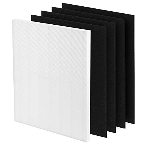 Gvaniamy D480 Replacement Filter D4 Compatible with Winix D480 Air Purifier Ture HEPA and 4 Activated Carbon Filters Item Number 1712-0100-00, D4 Filter 2 Pack