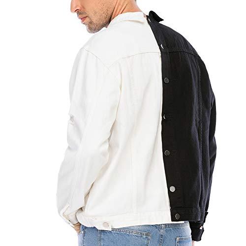 Slim Fit White Denim Jackets Men's