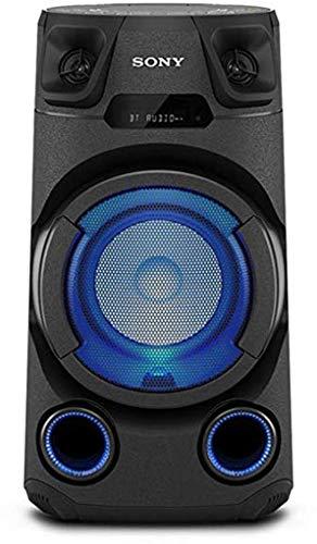 Sony MHC-V13 - Altoparlante Bluetooth All in One con JET BASS BOOSTER, Effetti Luminosi, Lettore CD, USB, Nero