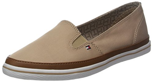 Tommy Hilfiger Damen Iconic Kesha Slip On Sneaker, Beige (Desert Sand 932), 40 EU