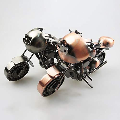 DAMAI STORE Personalizada Modelo De La Motocicleta Hecha A Mano De Hierro Forjado Crafts Retro Decoración del Hogar Creativo Regalo De Cumpleaños Práctico (Color : Bronze)