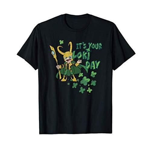 Marvel Kawaii It's Your Loki Day Shamrocks St. Patrick's Day Maglietta