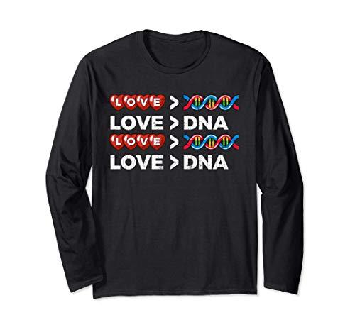 El amor es ms grande que la adopcin de ADN Regalos Manga Larga
