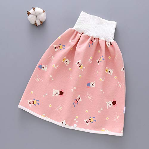 FinWell Comfy Childrens Diaper Skirt Shorts 2 in 1 Waterproof Leak-Proof Washable Baby Kid Diaper Skirt Training Pants