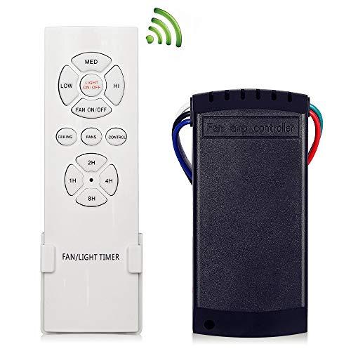 KNONEW Mando Universal para Ventilador de Techo, Control Remoto inalambrico...