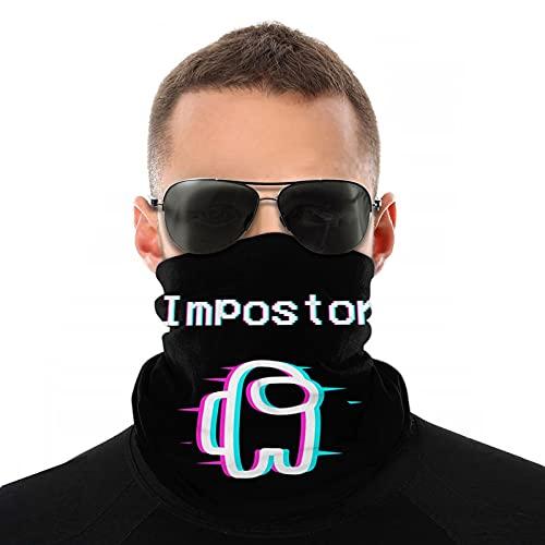 A-mo-ng us Crew-Mate Imp-ost-or máscara facial unisex bandana pasamontañas de seda de hielo bufanda de cabeza de seda a prueba de polvo polaina para el cuello al aire libre correr pesca
