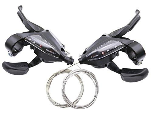 INKESKY Shimano ST-EF51 / EF500 3 x 8 Combo de palanca de freno de velocidad para bicicleta de montaña