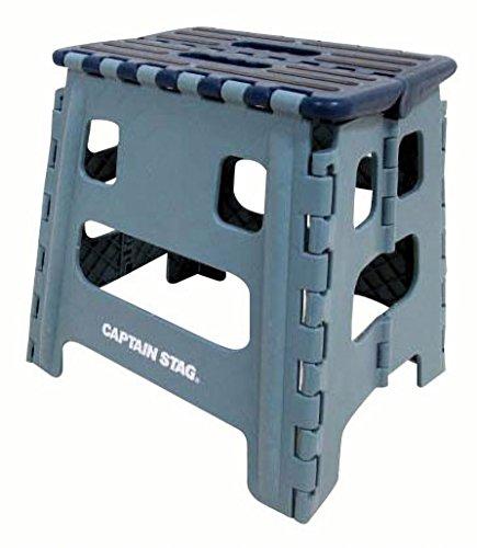 キャプテンスタッグ(CAPTAIN STAG) 踏み台 ステップ 椅子 折りたたみ ステップ Mサイズ ブルー UW-1508