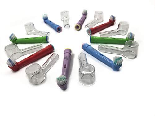 8 Testine di Ricambio Oral B Compatibili Kids per bambini Generiche 3AG + 8 Copritestine di Protezione Igienici per spazzolino elettrico Oral-B Sensitive, Professional Care, Vitality, ecc