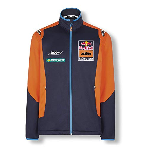 Red Bull KTM Official Teamline Chaqueta Softshell, Azul Hombres Small Chaqueta Impermeable, KTM Racing Team Original Ropa & Accesorios