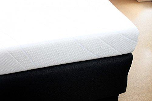 SW Bedding Viscoelastische Matratzenauflage 200 x 90 x 7cm H2 mit Bezug medicare Boxspringbett Auflage