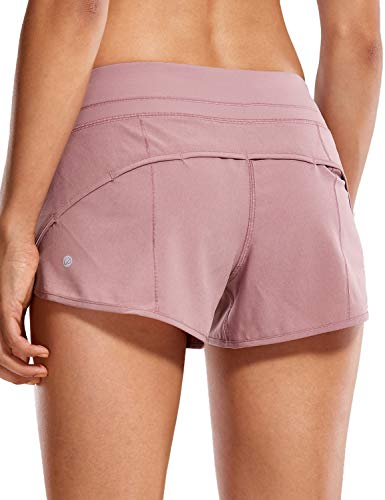 CRZ YOGA Women's Quick-Dry Workout Sports Active Running Shorts - 2.5 Inches Figue Small