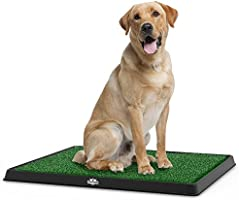Artificial Grass Puppy Pad for Dogs and Small Pets – Portable Training Pad with Tray – Dog Housebreaking Supplies by...