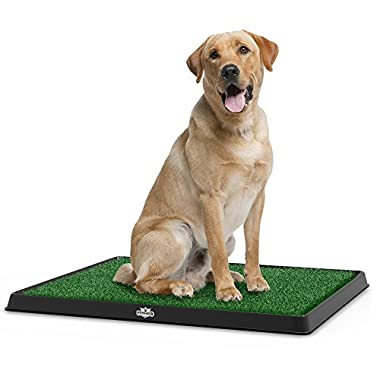 PETMAKER Artificial Grass Bathroom Mat for Puppies and Small Pets- Portable Potty Trainer for Indoor and Outdoor Use Puppy Essentials, 20  x 25