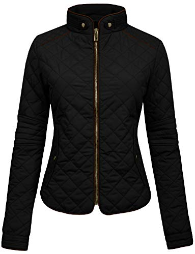 black quilted jacket - 3