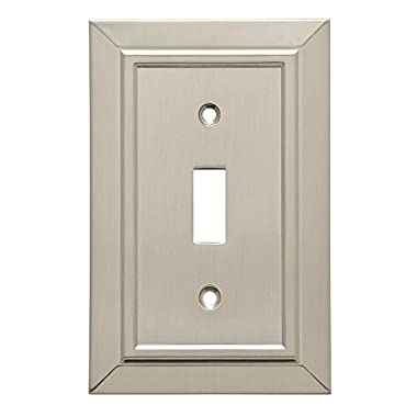 Franklin Brass W35217-SN-C Classic Architecture Single Toggle Switch Wall Plate / Switch Plate / Cover, Satin Nickel