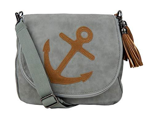 Ella Jonte Tasche Anker schwarz blau braun oder grau Ankertasche Handtasche
