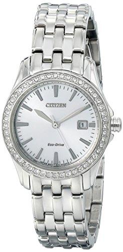 Citizen dames analoog kwarts horloge met roestvrij stalen armband EW1901-58A