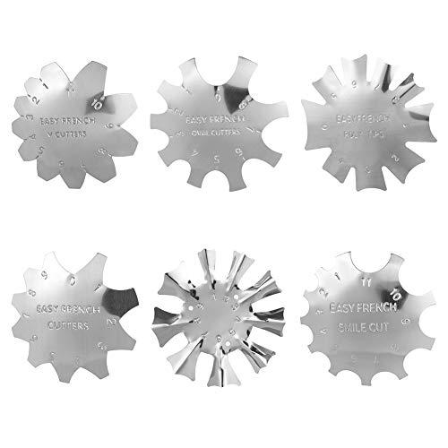 6 PCS Maniküre Rand Trimmer Nagel Kunst Kante Trimmer Französisch Lächeln Linie Werkzeug Set für Acryl UV Polyacryl Gel Modellage