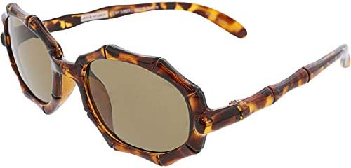 Janie And Jack Girl s Tortoise Bamboo Sunglasses 4 Up 200411178 Brown Geometric product image