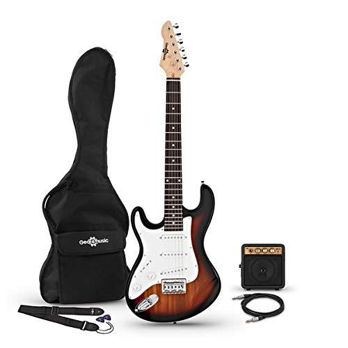 Guitarra Eléctrica 3/4 para Zurdos LA + Miniamplificador Sunburst