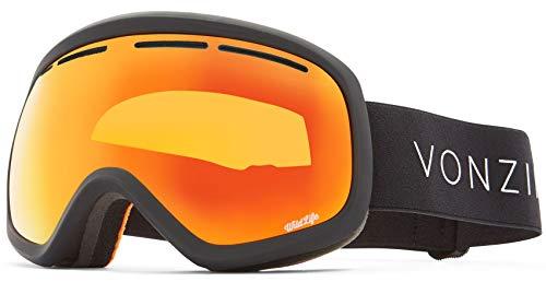 Von Zipper Masque Snowboard 2018 Skylab Noir Satin Wild Fire Chrome (Default, Orange)