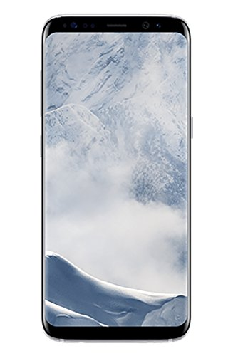 Samsung Galaxy S8, 64GB, Arctic Silver - Fully Unlocked (Renewed)