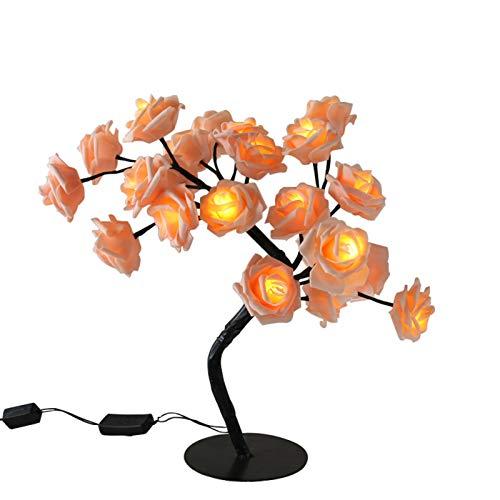 LED Bonsai Dekoration Licht Dekoration Baum Licht Rose Lampe verstellbare Zweige für Weihnachten Ostern Muttertag Hochzeit Jahrestag Nachtlampe für Wohnzimmer Schlafzimmer Restaurant Geschenk