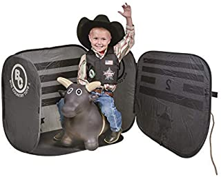 Big Country Toys Lil Bucker & PBR Chute Combo - Kids Hopper Toy - Bull Riding Toy - Rodeo Toys - PBR Bouncy Bull - PBR Bucking Chute