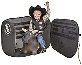 Big Country Toys Lil Bucker & PBR Chute Combo - Kids Hopper Toy - Bull Riding Toy with Bull Rope - Rodeo Toys - PBR Bouncy Bull - PBR Bucking Chute