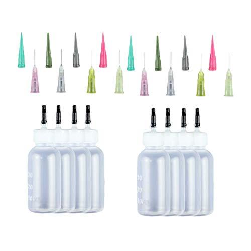 perfeclan Bouteilles de Seringue D'encre 24pcs 30ml avec Kit de Pointes D'aiguille de Distribution de Liquide de Peinture
