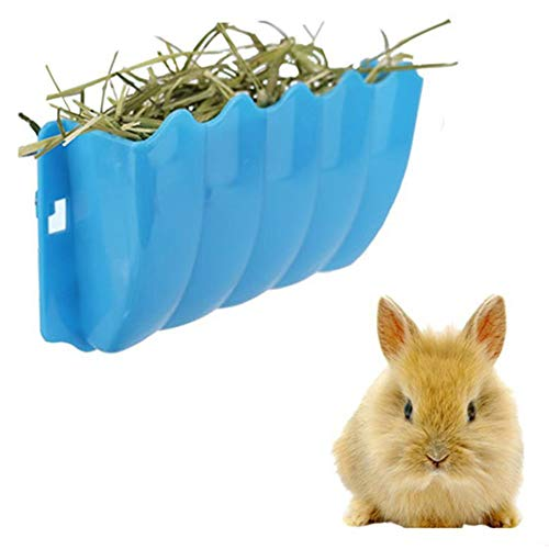 zswell Rabbit Hanging Feeder Grass Container Wall-Mounted Hay Manger Hay Rack Random Color