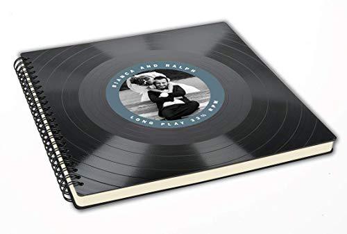 Fotoalbum mit deinem Foto - Hochzeitsalbum aus Schallplatte - Musik Hochzeit - Vintage Retro – Retro Geschenk-Idee