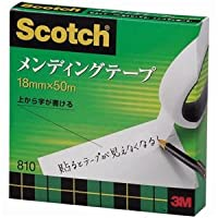 (まとめ) 3M スコッチ メンディングテープ 810 大巻 18mm×50m 紙箱入 810-3-18 1巻 【×5セット】