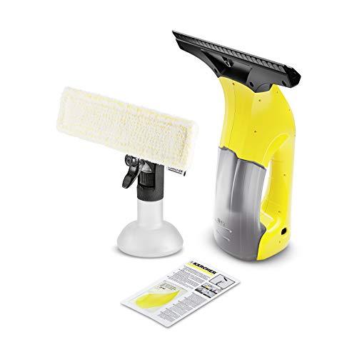Kärcher Fenstersauger WV 1 Plus (Akkulaufzeit: 20 min, Gewicht: 0,5 kg, Flächenleistung je Akkuladung: 55 m², Sprühflasche mit Mikrofaserbezug, Fensterreiniger-Konzentrat 20 ml)
