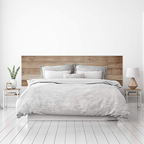 MEGADECOR Tête de lit en PVC décoratif, économique, texture bois, planches horizontales, chêne clair, plusieurs dimensions.