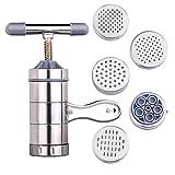 Nudelmaschine Edelstahl Nudeln Maker Pastamaker für frische hausgemachte Nudeln Obst Saftpresse Nudeln Reis Maschine