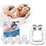 Anti Snore Devices, Snoring Stop Silicone Magnetic Anti Snore Nose Clip, Stop Snoring Professional Anti snoring Clip Promotes Comfortable Sleeps(4 Packs)