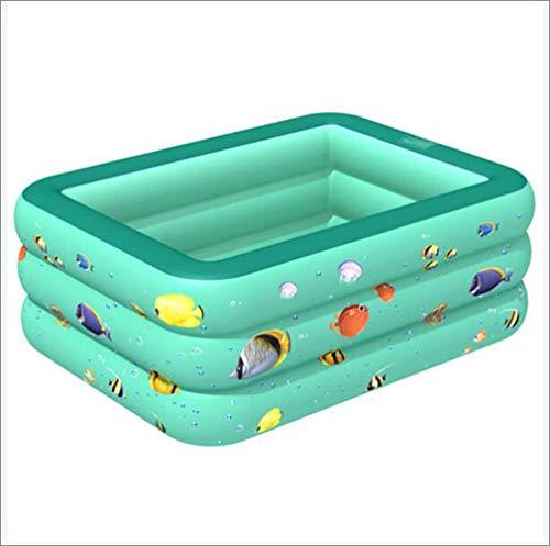 Piscina Inflable Piscina Infantil Hinchable Familiar Piscina Inflable del Acuario del Centro de natación Family Fun Lounge Pool para jardín al Aire Libre (130 * 85 * 50 cm),Verde