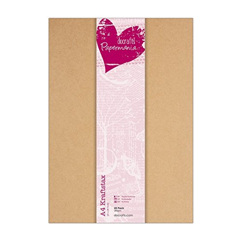 Docrafts Papermania Kraftpapier, DIN A4, 280g, 25 Stück
