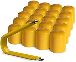 Best yellow wheel nut covers Reviews