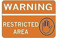 アルミメタルサインティンサイン警告立ち入り禁止エリアセキュリティウォールサイン面白い鉄絵ヴィンテージメタルプラーク装飾警告サイン吊るすアートワークポスターバーパーク