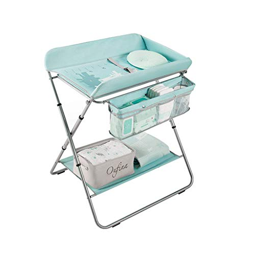 LZQBD Family Care/mit Storage Basket Folding Windel-Station Babypflege Tischdecken Tisch -Tisch Nursery Organizer for Jungen-Mädchen-Kleinkind-Baby-Kleinkind ändern